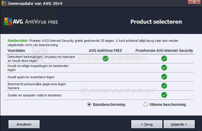 AVG Antivirus Free bijwerken