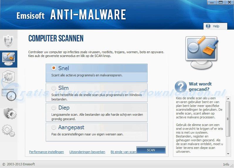 Emsisoft Anti-Malware (EAM) - Computer scannen