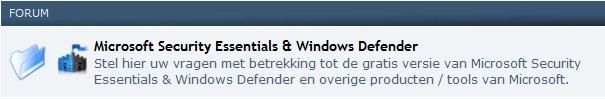 Microsoft Security Essentials Forum