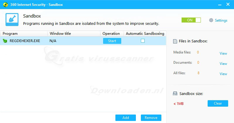 Qihoo 360 Internet Security Sandbox