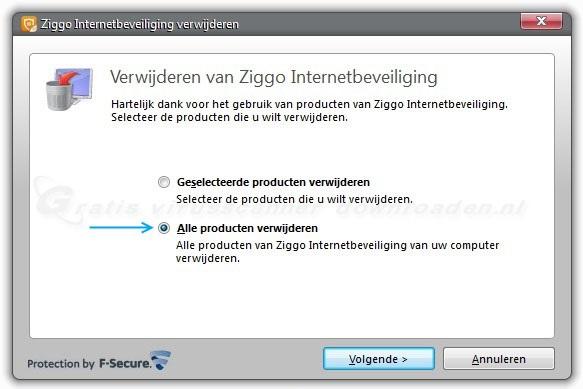 Ziggo Internetbeveiliging verwijderen