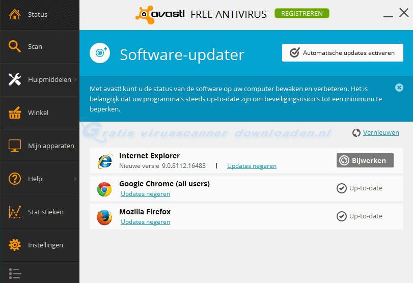 avast! software updater