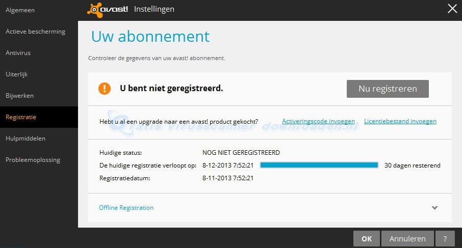 avast! Free Antivirus gratis registreren