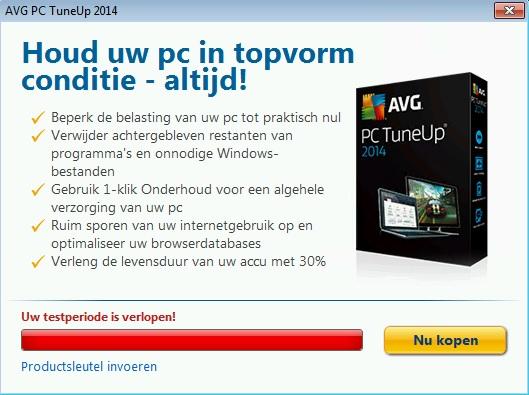 AVG PC Tune UP verwijderen