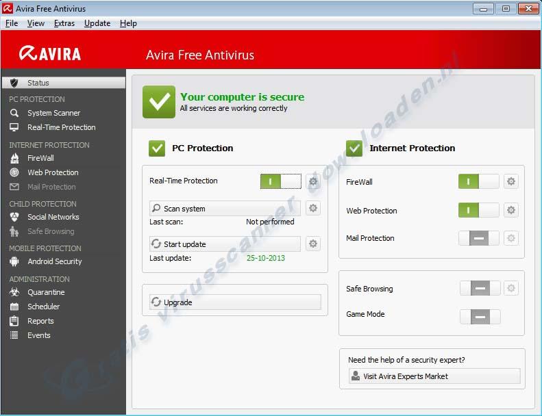Avira Free Antivirus - gratis virusscanner