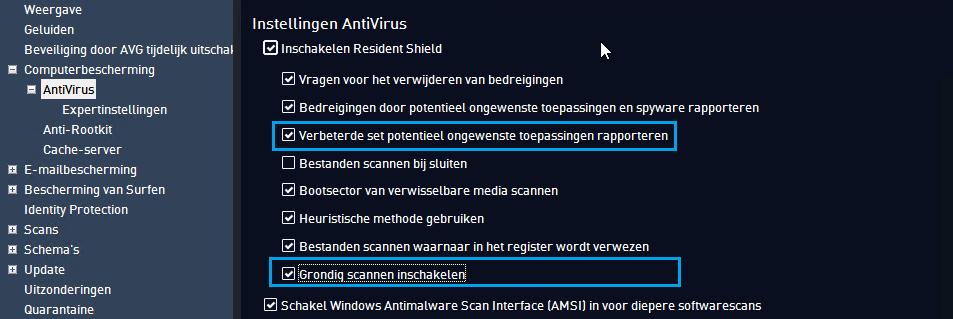 AVG AntiVirus Free Computerbescherming