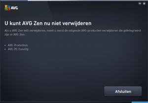 AVG Zen verwijderen