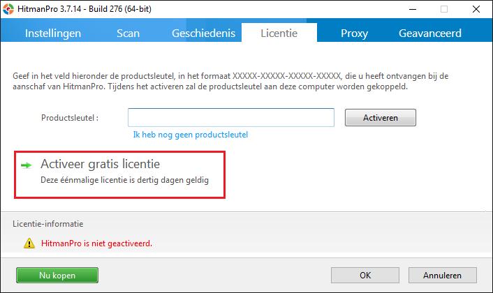 Malware verwijderen met HitmanPro