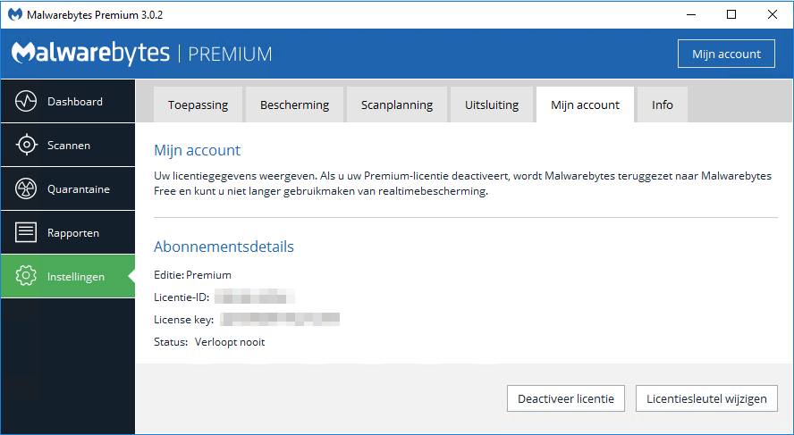 Malwarebytes 3.0 Life-time licentie