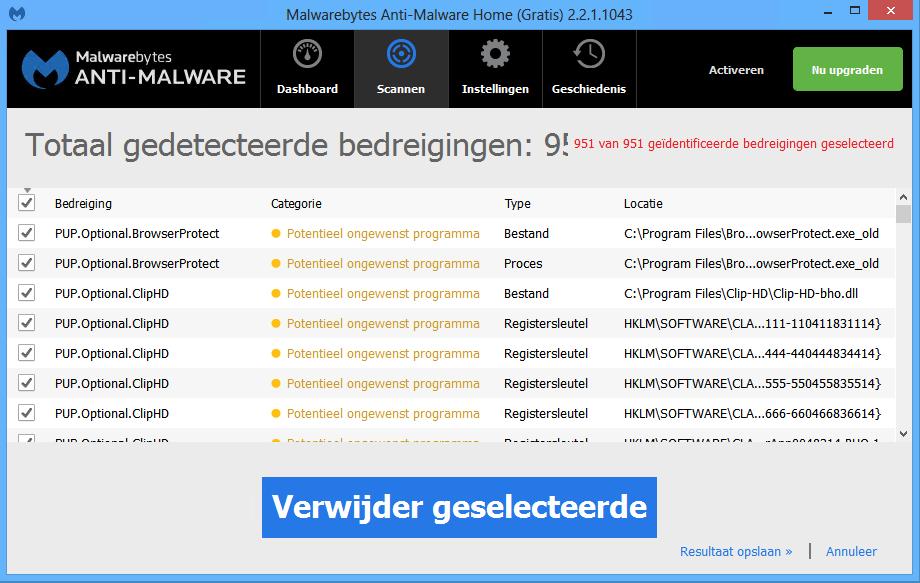 Malwarebytes Anti-Malware Scan