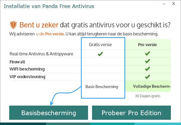 Panda Free Antivirus Basisbescherming