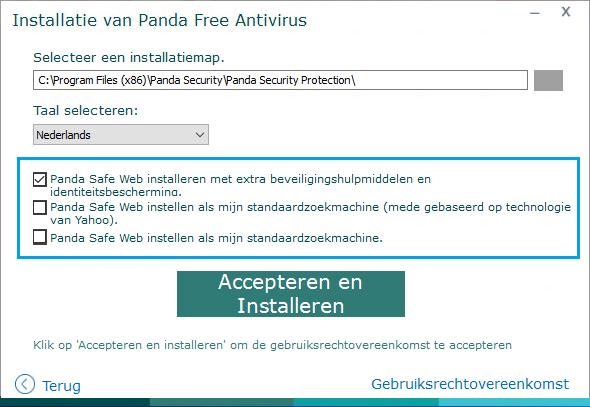 Panda Free Antivirus Installeren
