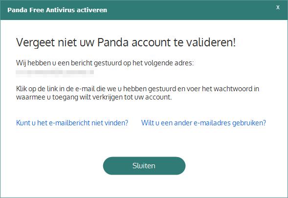 Panda Free Antivirus Activatie valideren