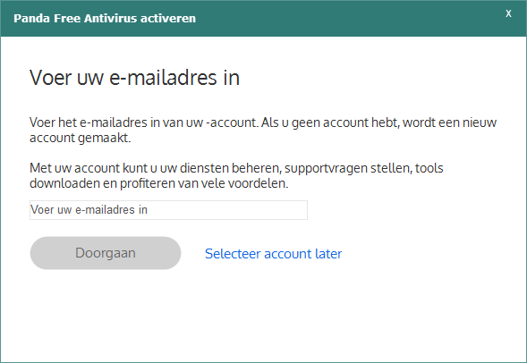 Panda Free Antivirus activeren