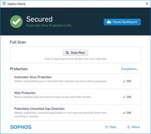 Sophos Home beveiligd
