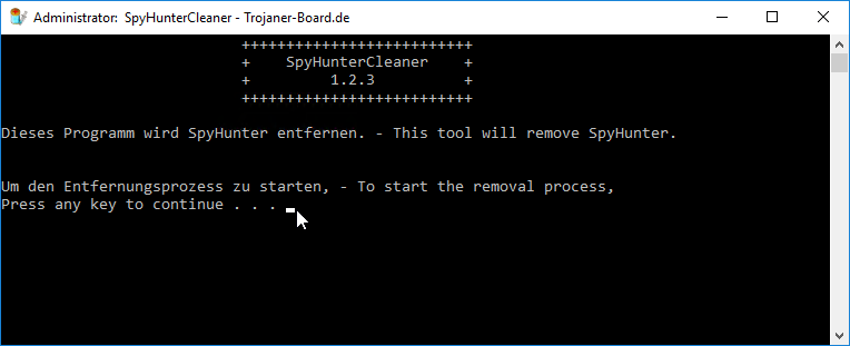 SpyHunterCleaner Removal Tool