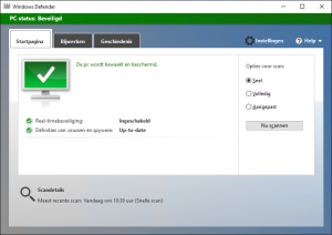 Windows Defender veilig