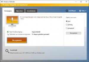 Windows Defender niet beschermd