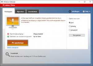 Windows Defender risico