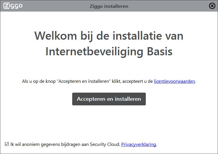 Ziggo Internetbeveiliging installatie