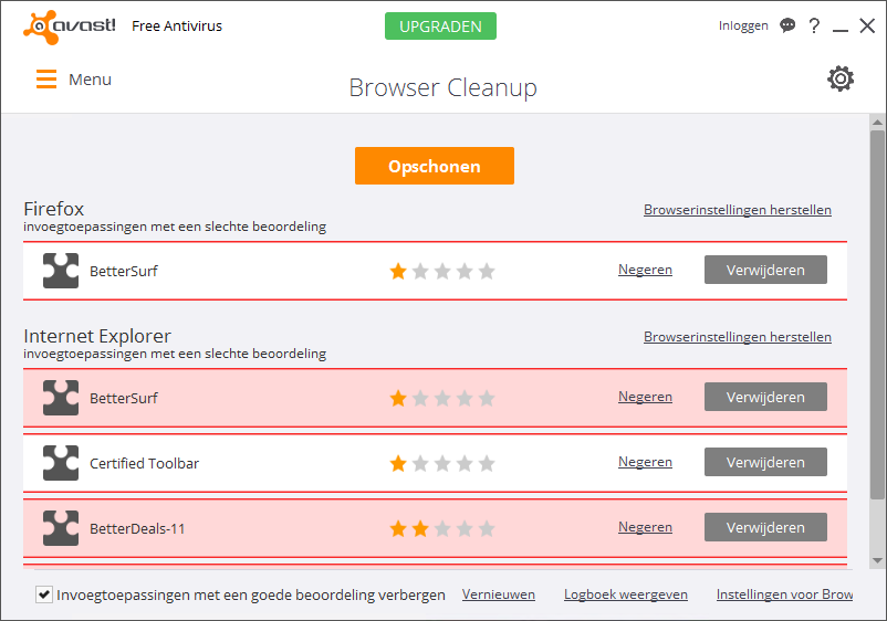 avast! Browser Cleanup Adware