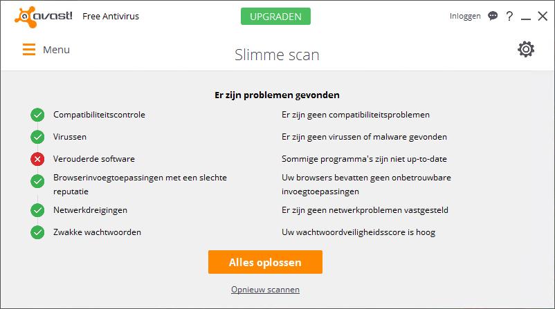 avast! Free Antivirus Slimme Scan