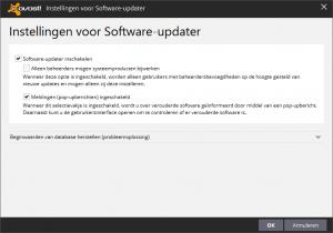 avast! Free Antivirus Software-updater instellingen