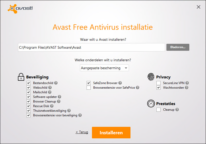 avast! Free Antivirus installeren