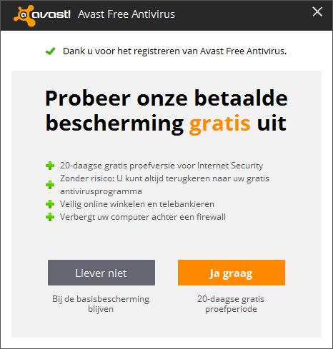 avast! Free Antivirus aanbieding